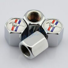 Car Truck Accessories Silver Wheels Tyre Valve Dust Cap Hat For Ford Mustang