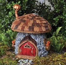 NEW FIDDLEHEAD FAIRY GARDEN HOUSE-Shingletown Mushroom Home with Open/Close Door