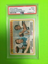 1978 Topps Passing Leaders R.Staubach B.Griese #331 PSA 6
