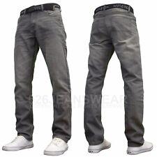 APT Hombre Diseñador Marca Clásico Encajar Jeans Rectos Con / Cinturón Gratis,