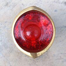 Brass Red gold Flat Reflectors Plastic For Vintage Bike
