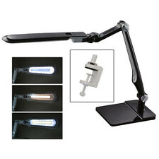 LED Desk Lamp Black Fixture with Double-Reach Base & Clamp Grobet 13.127