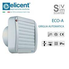 ASPIRATORE DIRETTO CON GRIGLIA AUTOMATICA ELICENT ECO-LINE DA 90mm 120mm e 150mm