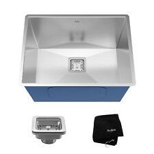 "Kraus Pax 24"" Rectangular Undermount 18 Ga. Stainless Steel Laundry Utility Sink"