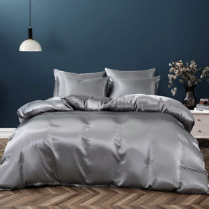 Silk DuvetCovr Cold Bedding Set King Queen Comforter Bedding Stain Bed Linen