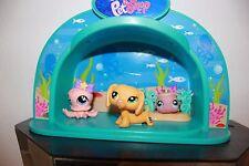 Littlest Pet Shop DACHSHUND #2597 Variant BLIND BAG Dog LOT FISH OCTOPUS STAGE