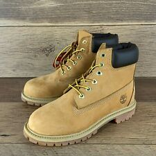 NEW TIMBERLAND TIMB-12709 WHEAT NUBUCK BOOTS SIZE 3 YOUTH US SELLER