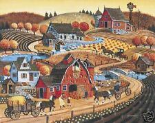 Pumpkin Time by Bob Bates Canvas Farm Barn Print HFA