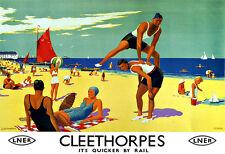Art Ad Cleethorpes LNER Train Rail Travel  Poster Print