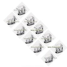 100pcs USB Type-A 90° Right Angle 4-pin Female Connector Jacks Socket PCB Mount