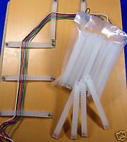 40 Kabel(Litze)halter+Schräubchen für die Modellbahn-Kabelverlegung #Hx2