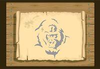 Gorilla Face 350 Stencil micron Mylar not thin stuff #Gor01