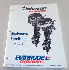 Manuale Officina Johnson Fuoribordo Motore-Barca Prestazioni 2 3 4 5 6 8 Cv V.
