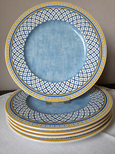 Villeroy & Boch Gallo Perpignan 5 Speiseteller Ø 27 cm, blauer Spiegel
