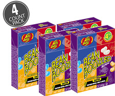 4 BOX'S BEAN BOOZLED JELLY BEANS  1.6oz  JELLY BELLY. HIGH DEMAND!!