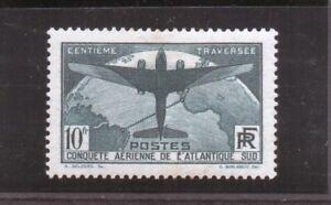 France 1936 n° 321 10f Atlantique Sud neuf *. Belle cote. Voir description.