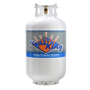 30 lbs. Flame King Empty Propane Cylinder with Overfill Protection Device Valve