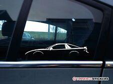2x AUTO ADESIVI SILHOUETTE-per MITSUBISHI 3000GT / GTO VR4 (1990-1997)