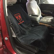 "Dodge Ram Car Seat Towel Slip-On Cotton Terry Cloth Black Seat Cover 47"" X 24"""