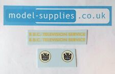 Dinky 967 BBC TV Mobile Control Room Reproduction Waterslide Transfers Set