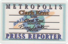 Clark Kent Daily Planet PRESS PASS  by Perry White Drivers License SUPERMAN card