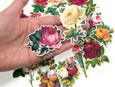 19pc retro Roses die-cuts Stickers lot for Junk Bullet Journal scrapbook