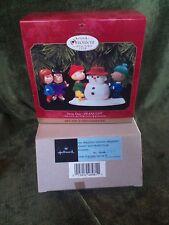 Peanuts Hallmark Keepsake Ornaments 2 pcs Collector Club Snow Day Nos 1999