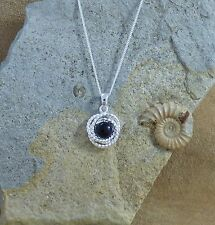 """New 925 Sterling Silver & Black Onyx Pendant and Chain 18"""""""