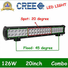 20inch 126W LED LIGHT BAR COMBO Offroad DRIVING LAMP 4WD WORK ATV SUV 20'' /144W