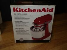 New KitchenAid KICA0WH Kica Ice Cream Maker Attachment Frozen Desserts Yogurt
