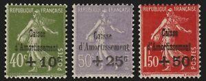 France n°275/277, série complète 1931, neufs ** sans charnière COTE 675€ - TB