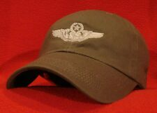 USAF MASTER NAVIGATOR / CSO Wings ball cap, OD green low-profile AVIATOR hat