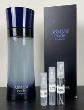 Giorgio Armani Armani Code Colonia Edt 1.75ml 2.75ml 5ml Samples