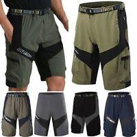 Men Cycling Mountain Bike MTB Bicycle Loose Shorts Pants Baggy Zipper Pockets US