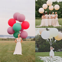 """6x Transparent 36/"""" Large Giant Clear Latex Big Balloon Wedding Party Decoration"""