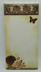 Punch Studio The Gifted Line Magnetic Memo Pad Jeweled Flower Butterfly NIP