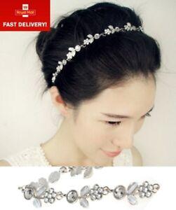 Boho Rhinestone Crystal Elasticated Diamante Hairband - Wedding Party Headband