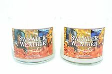 Bath & Body Works Sweather Weather 3 Wick 14.5 oz. Scented Candle~Lot of 2
