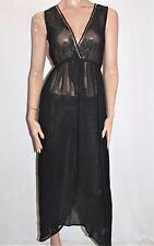 BOOHOO Brand Black Plunge Beaded Split Sided Maxi Dress Size M BNWT #SX114