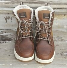 NEW Timberland Men's Raystown Medium Brown Leather Waterproof Snow Boots A1GXO 8