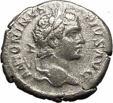 CARACALLA 210AD Silver Authentic Ancient Roman Coin Virtus Courage  i57508