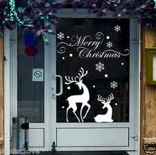 Christmas Reindeer Mural Removable Wall Sticker Decal Home Shop Window Decor