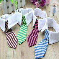 Christmas Cat Dog Striped Tie Collar Pet Adjustable Neck Tie Necktie Wedding NEW