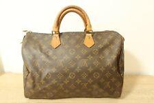 Authentic Louis Vuitton Speedy 35 Hand Bag Monogram Brown #7278