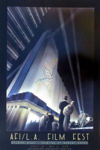 Robert HOPPE Los Angeles AFI Film Festival 1990 Art Deco Poster