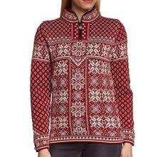 Dale of Norway Peace Women's Red Merino Wool Sweater XL