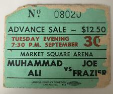 Muhammad Ali Joe Frazier Thrilla In Manila Ticket Stub