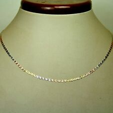 14k solid multi-tone gold 22 inches long 2.2mm Flat Star link chain 2.0 gram