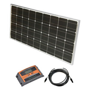 Solar Set 12 V Solaranlage Kit PV Inselanlage Wohnmobil Solarmodul Laderegler