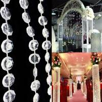 New 10M Garland Diamond Strand Acrylic Crystal Bead Curtains Wedding Decor US